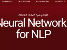 CMU课程上新:Neural Networks for NLP(18年视频课件放出)