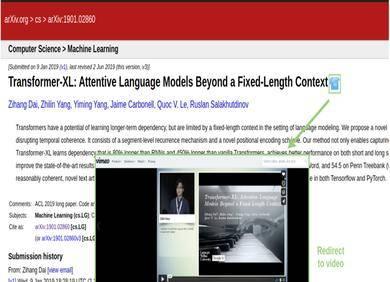 arXiv论文如何一键链接解读视频,这个浏览器扩展帮你实现