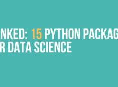 15个排名最佳的数据科学Python包