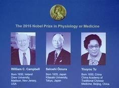 中国科学家屠呦呦等获得2015年诺贝尔生理学或医学奖