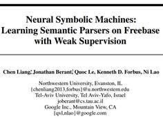 谷歌新论文提出神经符号机:使用弱监督在Freebase上学习语义解析器