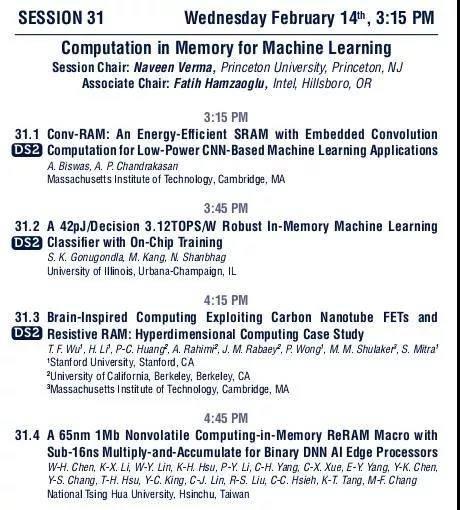 ISSCC 2018 前瞻 之 人工智能硬件篇