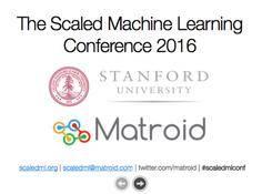 ScaledML 2016大会演讲:深度学习大神解读智能时代