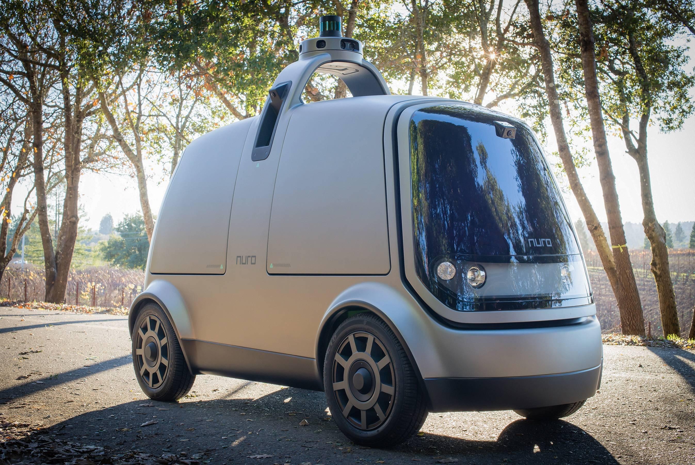 快递新革命:硅谷机器人公司Nuro发布Level 4无人配送车