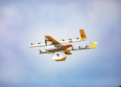 几分钟送达:无人机快递在美国首次商用,来自谷歌旗下公司