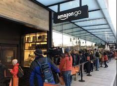 零售行家紧盯着的亚马逊无人店开业了,我们到现场排了队还来了一次花式测评