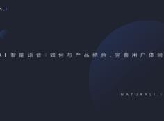 Naturali 奇点机智 AI 智能语音分享会:如何与产品结合、完善用户体验?