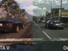 玩GTA5吗?高清真人版那种,英特尔新模型将3D渲染图变逼真图片