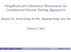 腾讯AI Lab AAAI18现场陈述论文:使众包配对排名聚合信息最大化的 HodgeRank