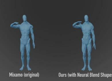 自动生成模型动画:北大神经融合形状新方法登上SIGGRAPH 2021