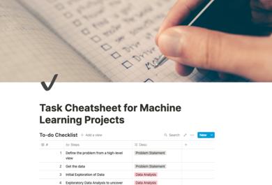 做ML项目,任务繁多琐碎怎么办?这份自查清单帮你理清思路