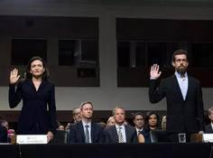 """硅谷华盛顿正面杠:科技巨头参加""""世纪听证会"""",谷歌缺席,推特道歉"""