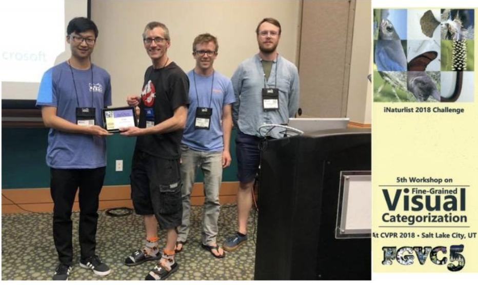 大连理工大学在CVPR18大规模精细粒度物种识别竞赛中获得冠军