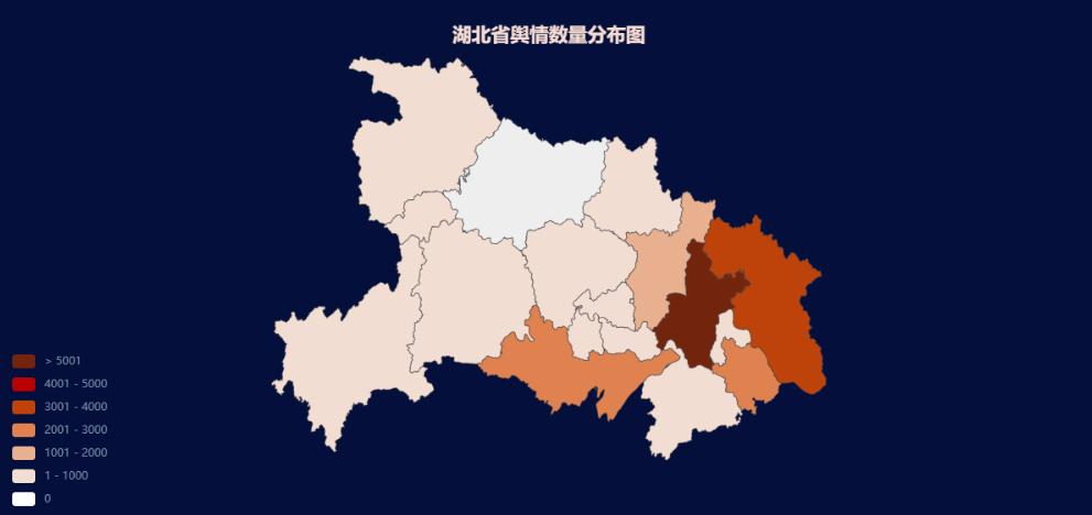 说明: 湖北舆情数量分布图
